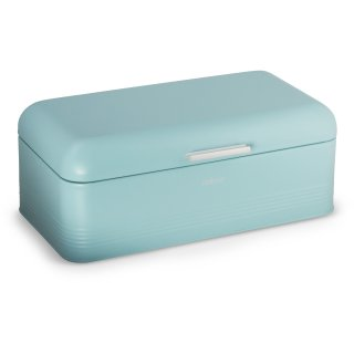 Brotbox ALVA L aus Metall, türkis