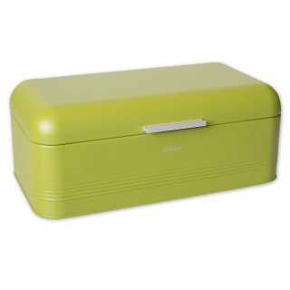 Brotbox ALVA L aus Metall, oliv