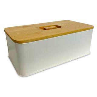 Brotbox ALVA PRO aus Metall, creme